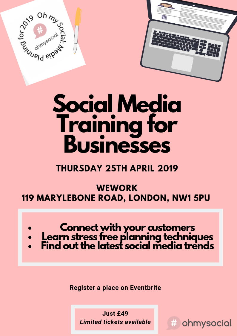 social media training session london 25th april