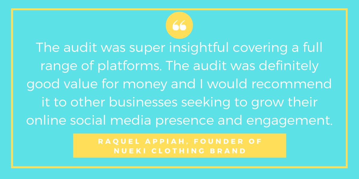 social media audit testimonial